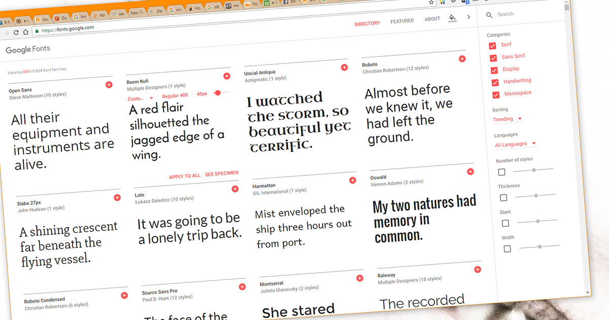 Useful Google Webfonts for your Web Design Projects • Russwurm